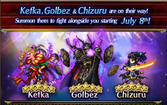 New Allies Kefka Golbez And Chizuru Final Fantasy Brave Exvius
